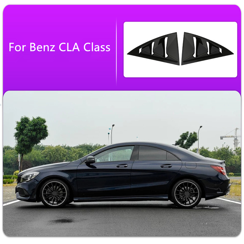 Gloss Black Car Rear Window Louvers piano lacquer Car Stickers Car cover For Mercedes Benz CLA 2013 TO 2019 Car styling ABSGloss Black Car Rear Window Louvers piano lacquer Car Stickers Car cover For Mercedes Benz CLA 2013 TO 2019 Car styling ABS
