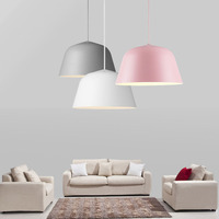 Home Dining Room Pendant Lamps Creative Colorful Restaurant Coffee Bedroom Pendant Lights Aluminum Material AC110V 0V