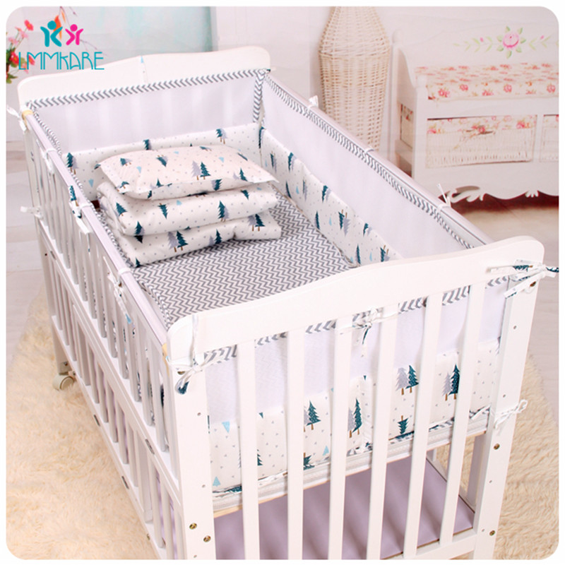 Cotton Crib Baby Bedding Sets Cotton Breathable Mesh Bed Baby Bumpers In Spring Summer Include Bed Bumpers/Sheetz