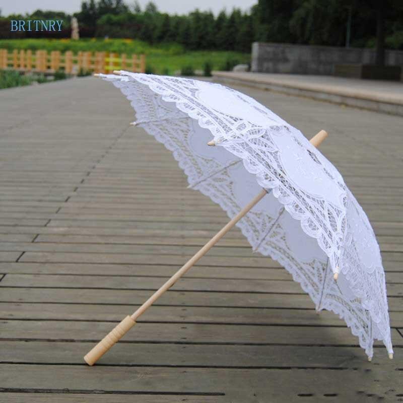 Hand-Made-White-Victorian-Umbrella-Lace-Wedding-Bridal-Umbrella