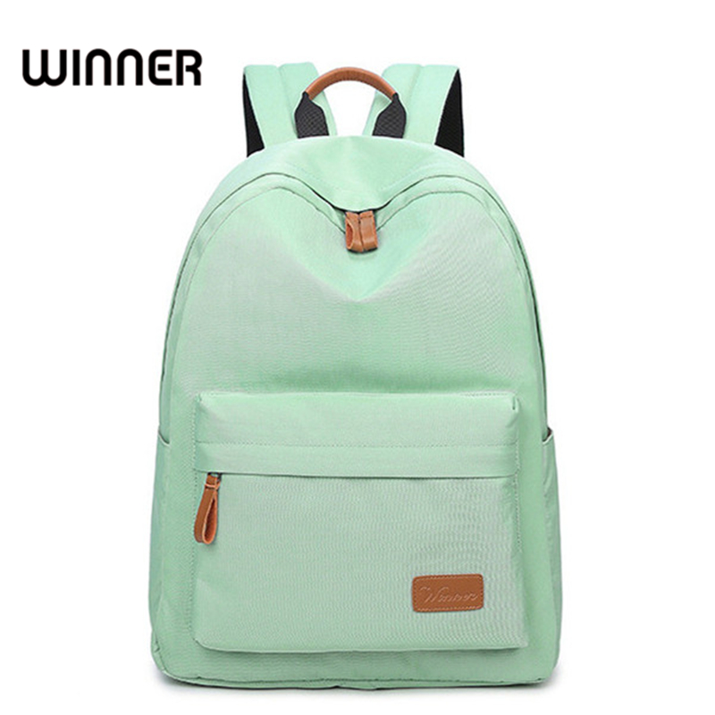 Casual Solid Canvas Women Backpack School Bag Large Capacity Simple Travel Bags Lady Back Pack Style