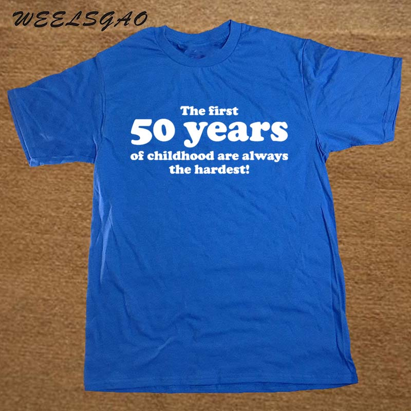 50 YEARS OF CHILDHOOD T SHIRT FUNNY MENS SLOGAN GIFT 50TH BIRTHDAY In Shirts From Mens Clothing On Aliexpress