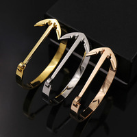 2017 New High Quality Anchor Type Buckle Imitation Stainless Steel Women Bangles Fashion Jewelry