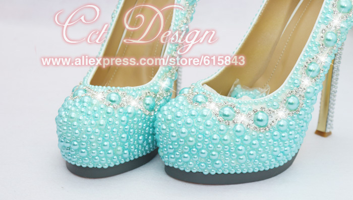 f37b18df4180ae free shipping by DHL custom make rhinestone and light blue bridal wedding  shoes evening prom high heel shoes-in Women s Pumps from Shoes on  Aliexpress.com ...