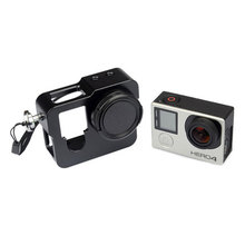 Go Pro Aluminium Rig Housing Case Frame with 37mm UV Filter Lens Cap For Gopro Hero 4 3+ Plus 3 Sport Action Camera Accessories