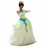 فستان الأميرة تيانا حلي الضفدع الأميرة تأثيري هالوين كرنفال اللباس تأثيري الكبار