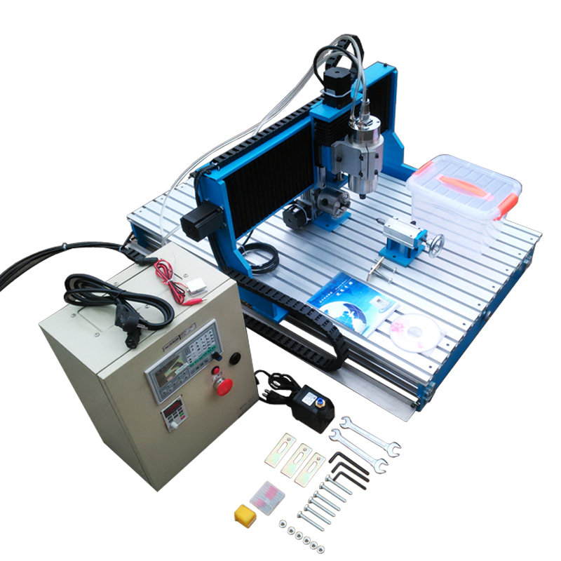 1.5KW 2.2KW CNC 6090 Router Engraving Machine Offline DSP Controller System CNC Milling Machine Linear Guide Rail TRH20 cnc 5axis a aixs rotary axis t chuck type for cnc router cnc milling machine best quality