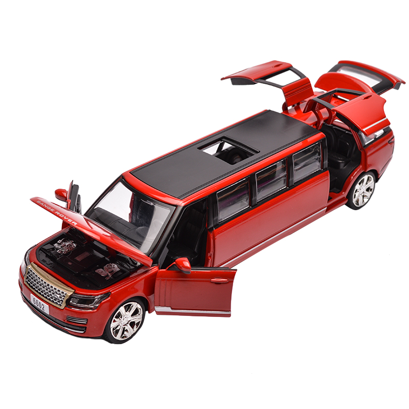 Lengthened Alloy Simulation Car Model The Door Can Open Beautiful And Exquisite World Famous Car Collection Jsuny Toy Car Model