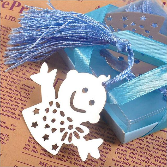 20PCS Cute Happy Boy Blue And Pink Children Bookmark Baby Shower Souvenirs  Favor Party Gift Wedding