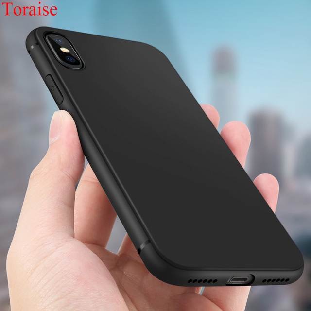 the latest 2a9b2 55438 US $2.99 40% OFF|Toraise Slim Ultra thin Case For iPhone X Case iphone 8  Frosted Soft Silicone Tpu Case for iPhone 8 plus x Cover iPhone 7 7plus-in  ...