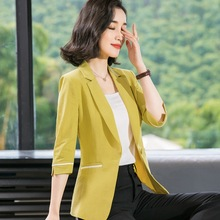 Stylish Summer 2009 Thin Western Decoration Slim Ladys Small Suit with Dark Stripes and Big Size Opener