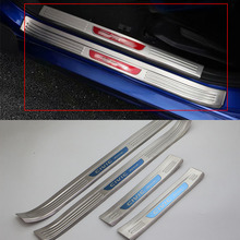 Car body kits Scuff Plate Stainless Steel Door Sills Pedal Sticker For HONDA CIVIC 2017