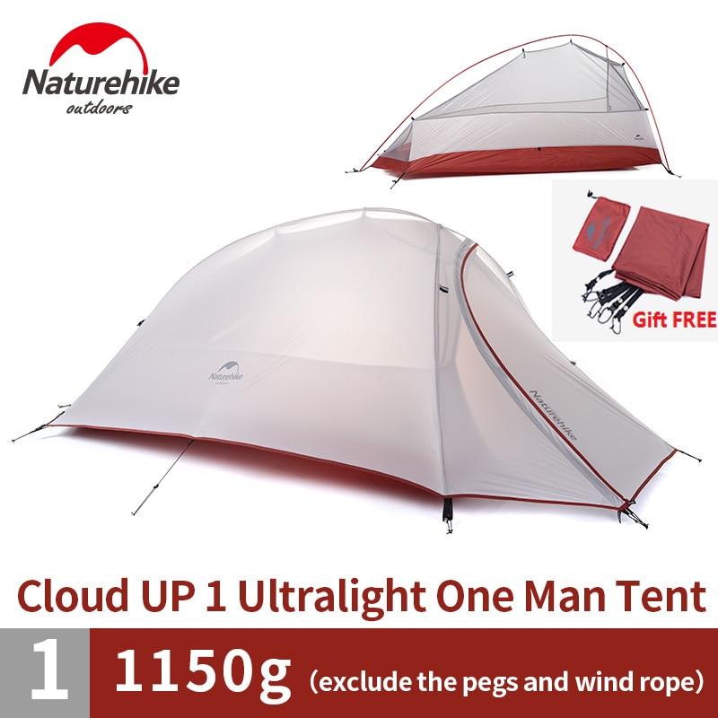 Naturehike завод 4 сезона Открытый Портативный двухслойная палатка Камуфляж для 1 человека легкий водонепроницаемый PU8000mm