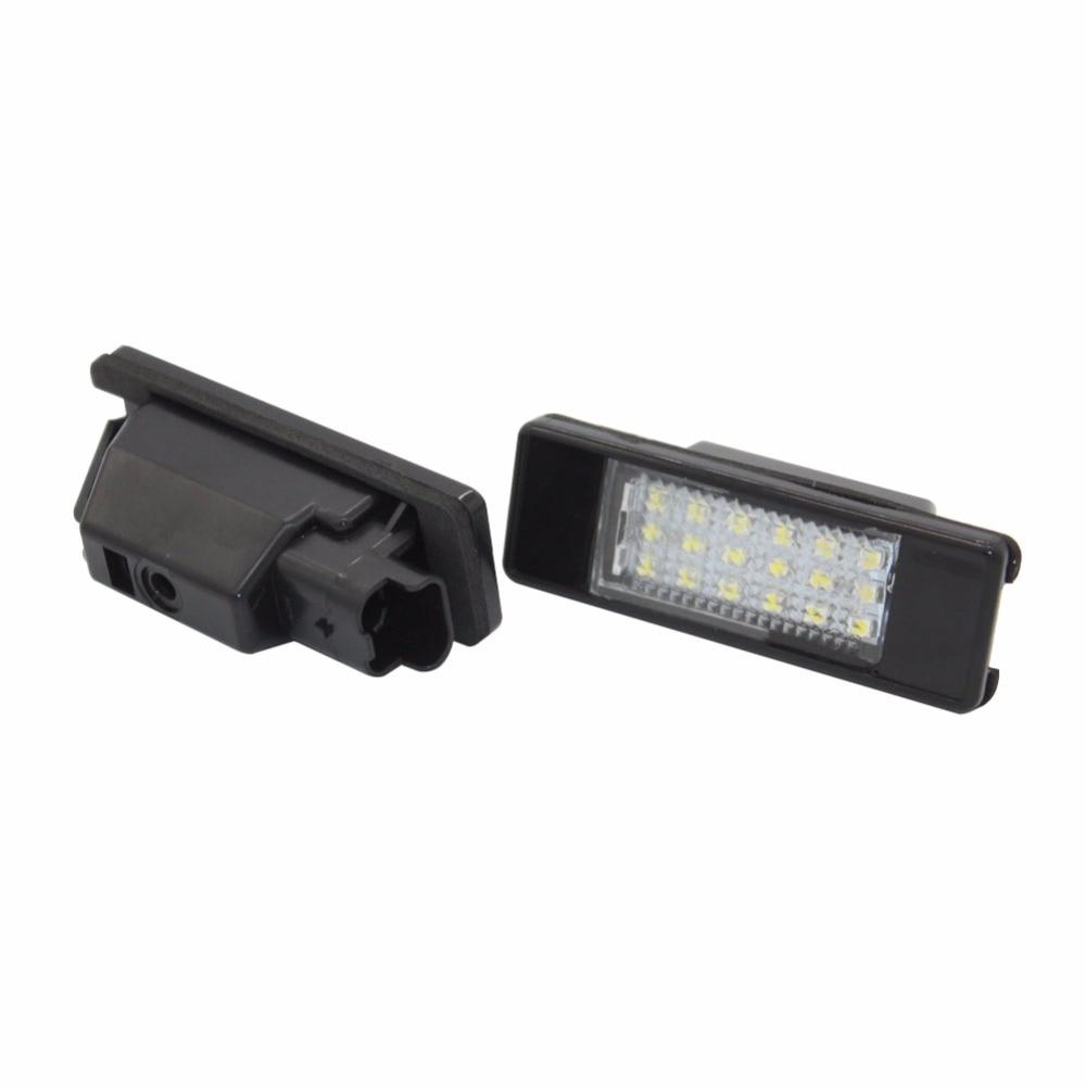 License Plate Lamps Light for Renault Twingo II Clio III Megane II 3D5D Kombi Laguna III Velsatis Error Free 18 SMD LED