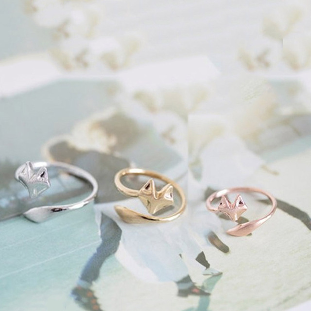Fox S Wedding.Us 0 53 Fashion Fox S Head Ring Cute Animal Open Ring For Women Party Gift Simple Lovely Ring Fox Wedding Rings Gifts Anillos In Wedding Bands From