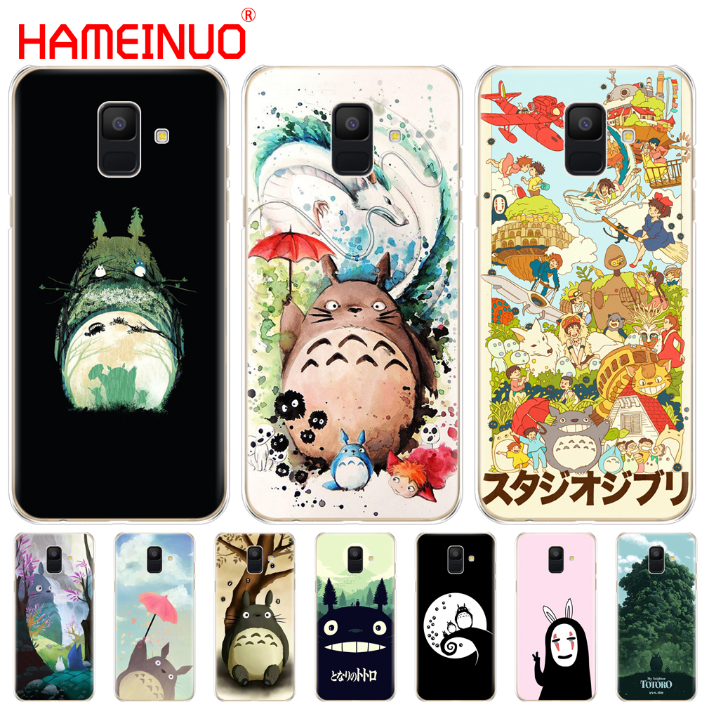HAMEINUO My Neighbor Totoro Anime cover phone <font><b>case</b></font> for <font><b>Samsung</b></font> Galaxy J4 J6 J8 A9 A7 2018 A6 <font><b>A8</b></font> 2018 PLUS j7 <font><b>duo</b></font> protect coque image