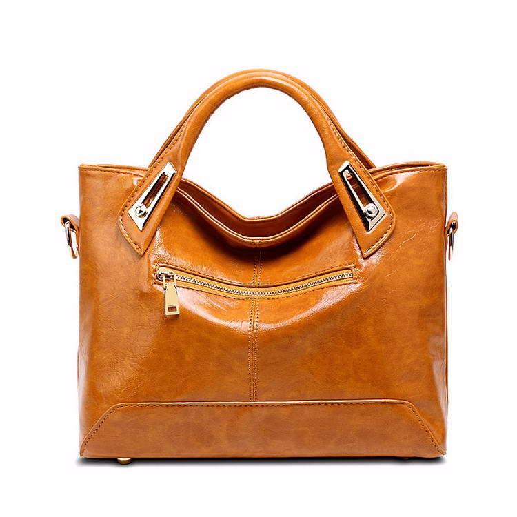 Women Oil Wax Leather Designer Handbags High Quality Shoulder Bags Ladies Handbags Fashion brand PU leather women bags WLHB1398 10
