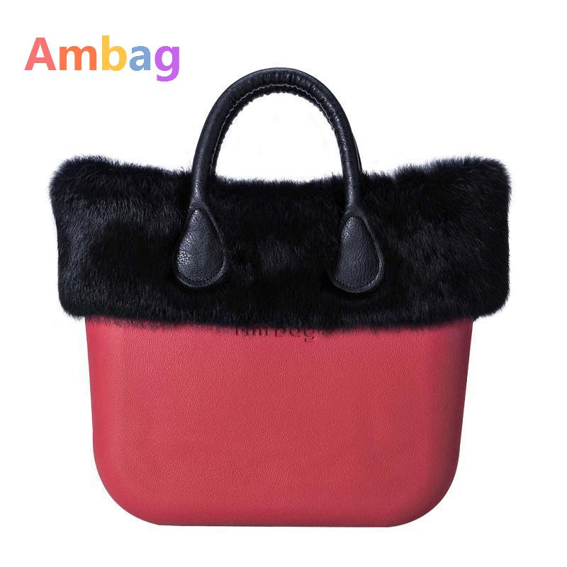 2017 Winter Large bag Ambag Tote Black Rabbit Plush Classic bags Handbags Women High Quality Bags PU Handle Big Shoulder Bag акустика центрального канала piega classic center large macassar high gloss