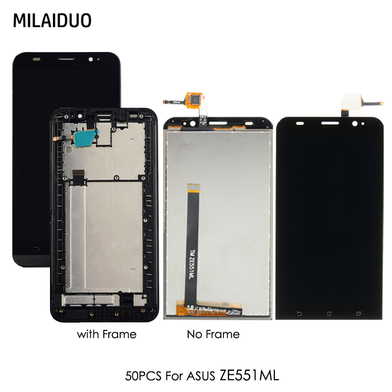 Mobile Phone Lcds Ze551ml Lcd Display Touch Screen Digitizer Assembly Frame For Asus Zenfone 2 Ze551ml Display Screen Z00ad Display Replacemnt Spare No Cost At Any Cost