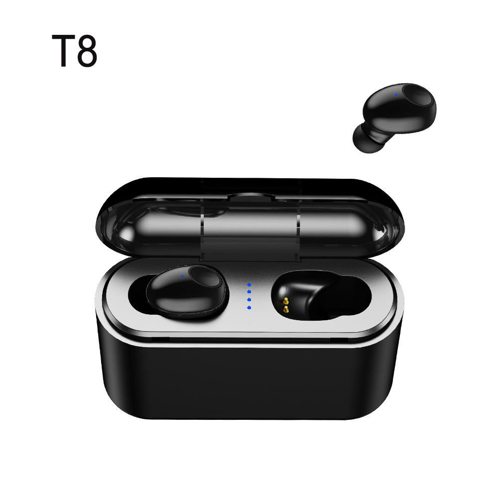 True Wireless Earbuds Mini Bass Bluetooth Headsets Stereo Earphones Hands-free Mic For IPhone Samsung Sony Xiao Mi Phones Car TV