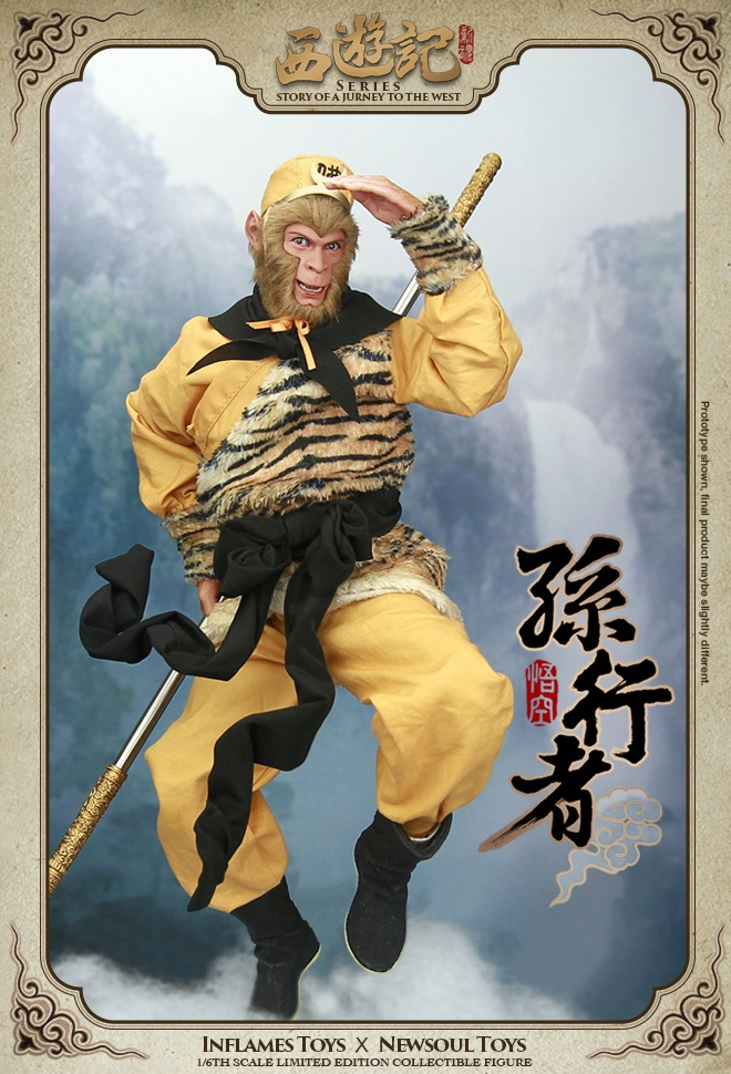 1 6 scale figure doll jurney to the west monkey king with 2 heads 12 action figures doll collectible figure model toy gift 1/6 scale figure doll Journey to the West  monster Monk Monkey King.12 action figures doll.Collectible figure model toy