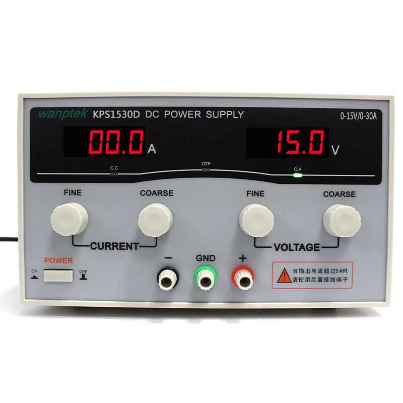 High quality Wanptek KPS1530D High precision Adjustable Display DC power supply 15V/30A High Power Switching power supply cps 6011 60v 11a digital adjustable dc power supply laboratory power supply cps6011