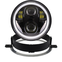 5.75 INCH Motorcycle Projector Daymaker LED Headlight with bracket and Hard ware ring Plug in Play for Honda VTX1300/1800