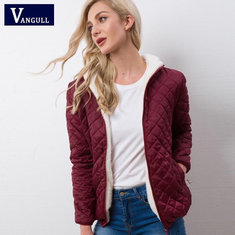 Autumn 2020 New Parkas basic jackets Female Women Winter plus velvet lamb hooded Coats Cotton Winter Jacket Womens Outwear coat 3