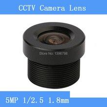 "Surveillance camera Mini HD 5MP lenses 1 / 2.5 ""1.8mm fixed iris fixed lens M12 Interface CCTV Lens"