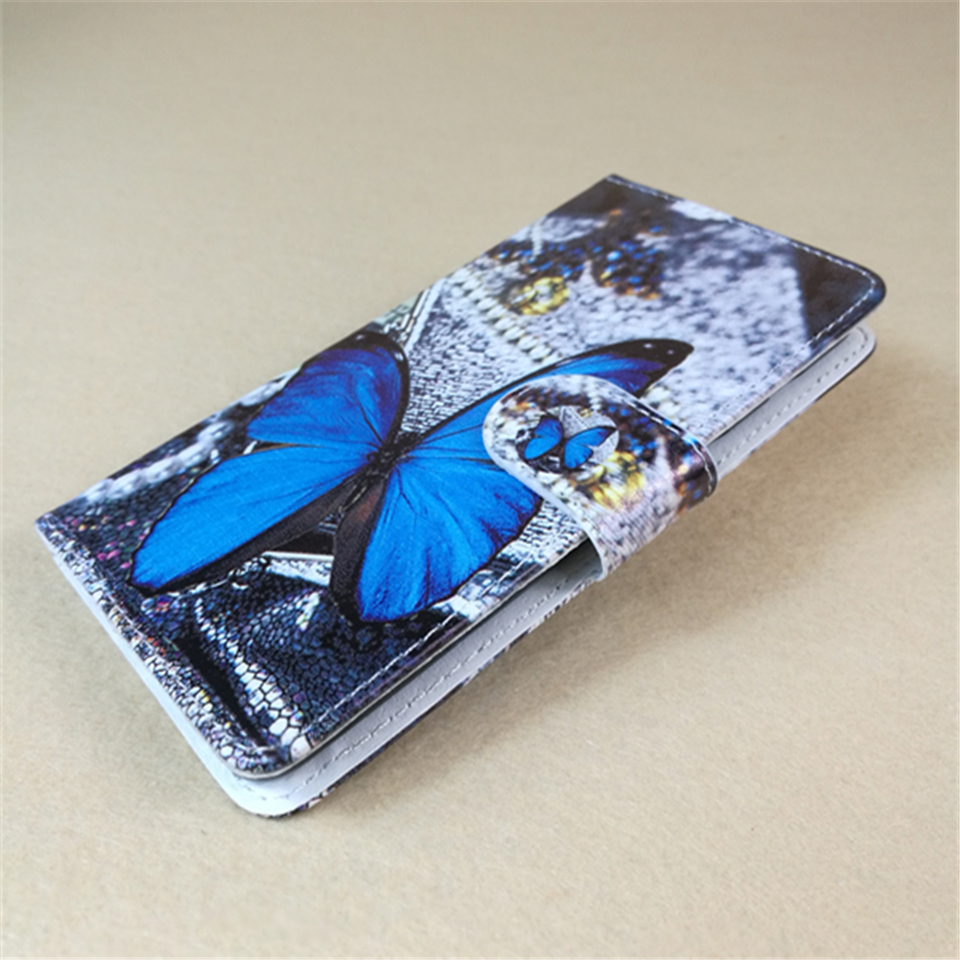 Online Shop New Butterfly Flower Flag Designer Wallet Flip Stand