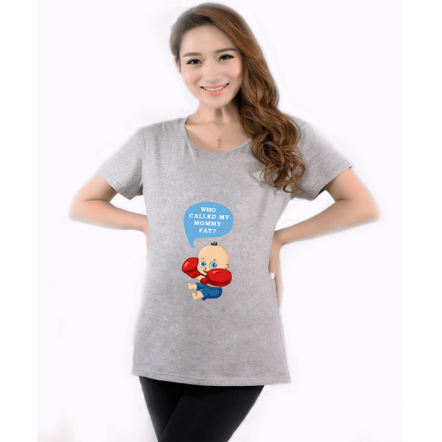 93973cb79d31e Cartoon Baby Peeking Out Funny Maternity T-Shirts Women Pregnant Clothes  for pregnant women Casual Maternity Pregnancy T Shirts