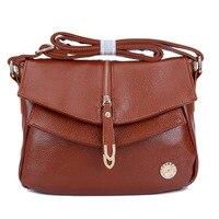 Hot Sale Vintage Women Leather Handbag 2015 Genuine PU Leather Bag Fashion Ladies Messenger Bag Black