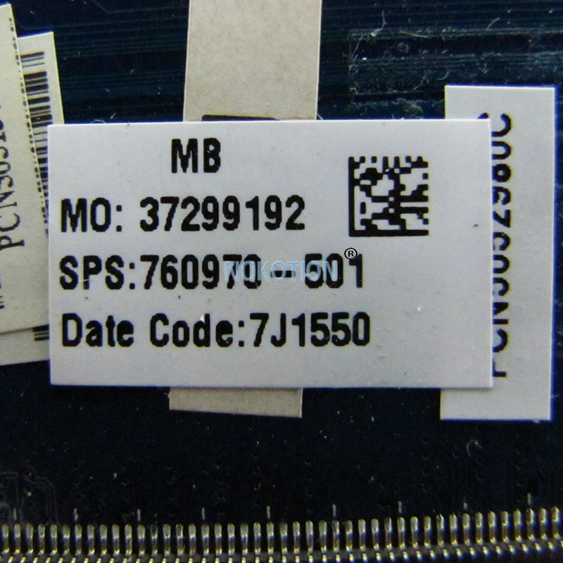 NOKOTION 760970-501 760970-001 For HP 15-R Laptop Motheboard 15.6 Inch ZSO50 LA-A992P I5-4210U CPU GT820M Video card