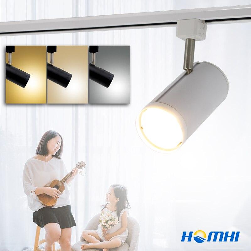 Führte track licht Cob 20 watt Für Kleidung Shop aluminium scheinwerfer weihnachten Schiene Lampe home office shop küche home beleuchtung leuchten