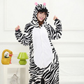 Zebra pajamas Adults Women Jumpsuit Pyjamas Animal Kigurumi Zebr Cosplay Costume Carnival Party Anime Sleepwear stripe Sleepsuit