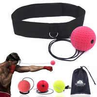 Boxe réflexe vitesse Punch Ball entraînement main Coordination des yeux avec bandeau améliorer la réaction Muay Thai Gym équipement d'exercice