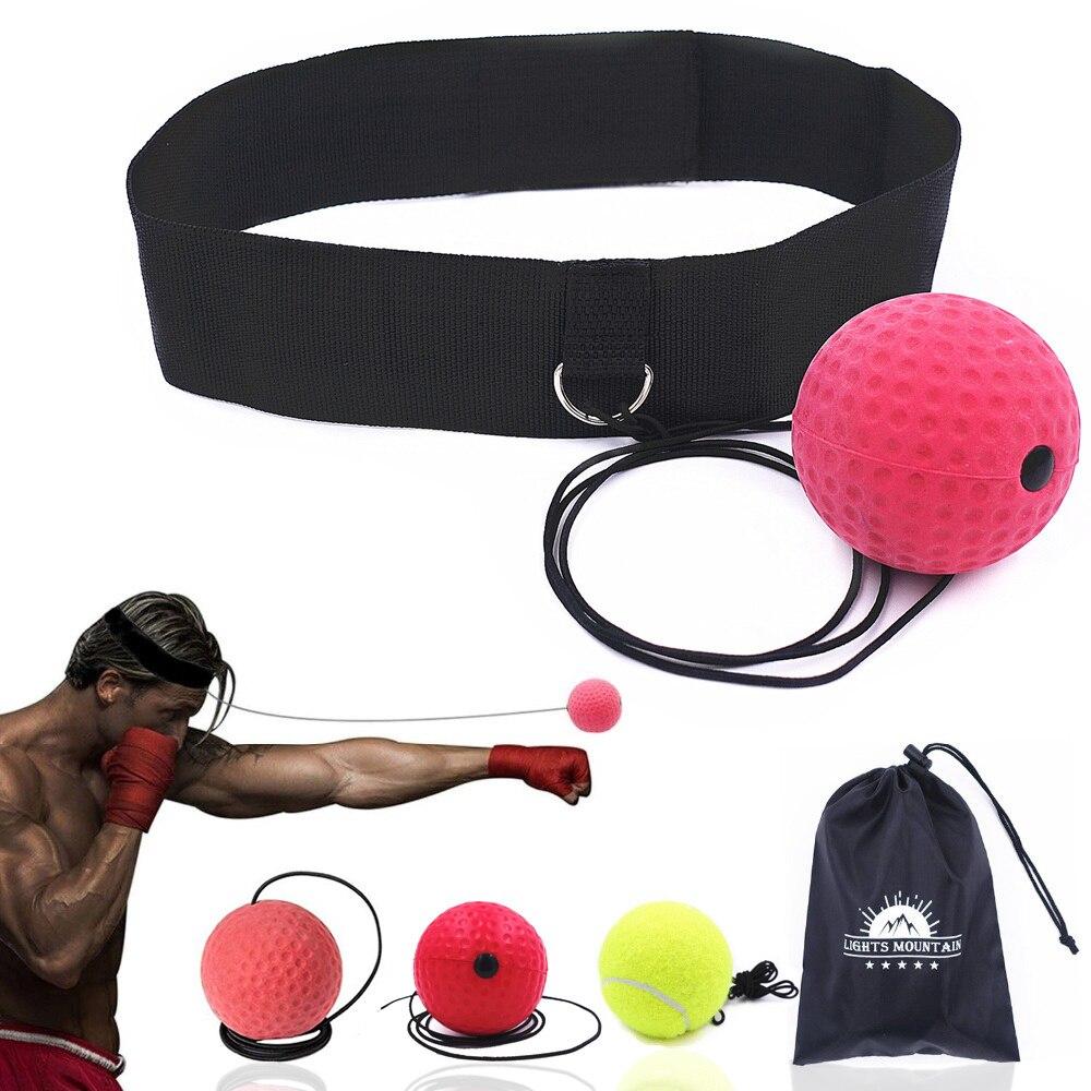 Velocidade de Reflexo de boxe Soco Bola Treinamento Coordenação Olho Mão com Headband Melhorar Reação Muay Thai Ginásio Equipamentos de Ginástica