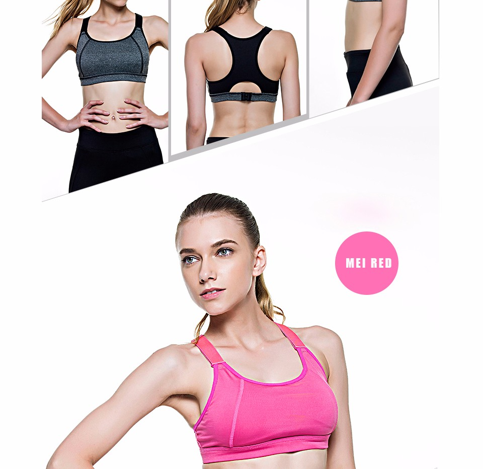9586ac1b71 QELIO - Women Yoga Bra Sports Bra for Running Gym Fitness Athletic Bras  Padded Push Up Tank Tops For Girls ropa deportiva S-XL
