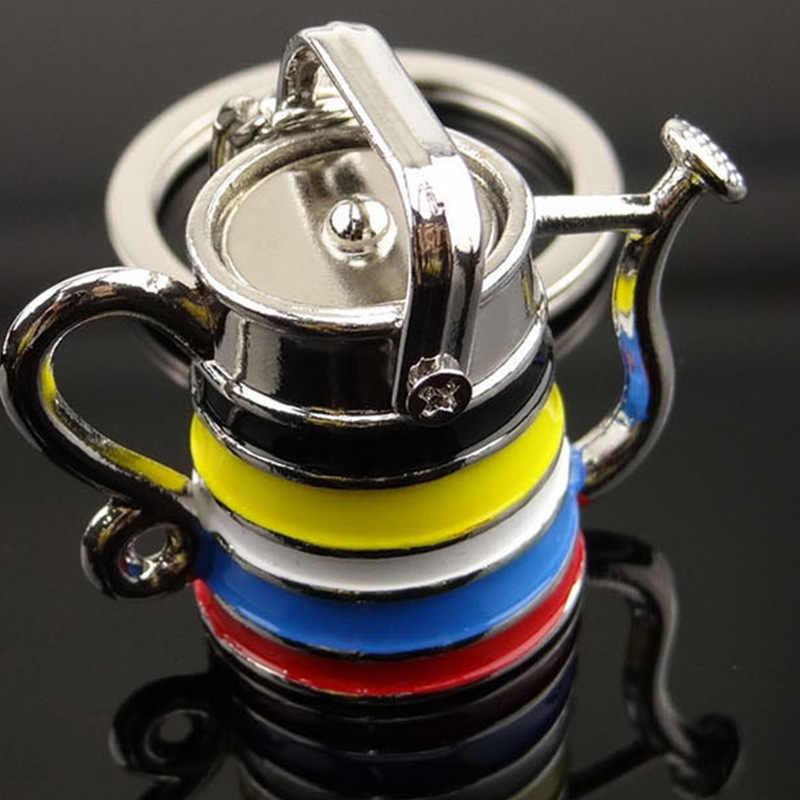 Творческий Ретро брелок в форме чайника для женщин мужчин чайник укладки рекламы небольшие подарки Многоцветный краски творческие подарки опт