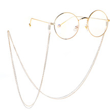 2019 Fashion Chic Stainless steel Double Layer Gold Silver Eyeglasses Chain Sunglasses Strap Cord Neck Band Eyewear Accessories