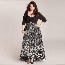 Sakazy Patchwork Elegant Sexy Summer Dress 5xl Large Plus Size Evening Celebrity Party Long Dress For Fat L Vestido De Festa