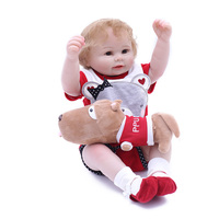 19''Hand Painted American Newborn baby dolls Girls Kits Smiling face Mohair look real Life Like Doll for beginners Low Price