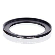 Elevação original (reino unido) 58mm 72mm 58 72mm 58 a 72 step up anel filtro adaptador preto