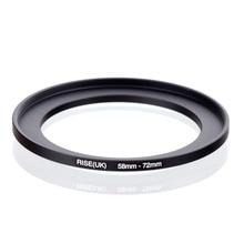 Original AUFSTIEG (UK) 58mm 72mm 58 72mm 58 zu 72 Step Up Ring Filter Adapter schwarz