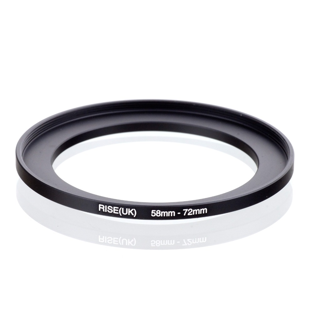 Original RISE(UK) 58mm-72mm 58-72mm 58 To 72 Step Up Ring Filter Adapter Black