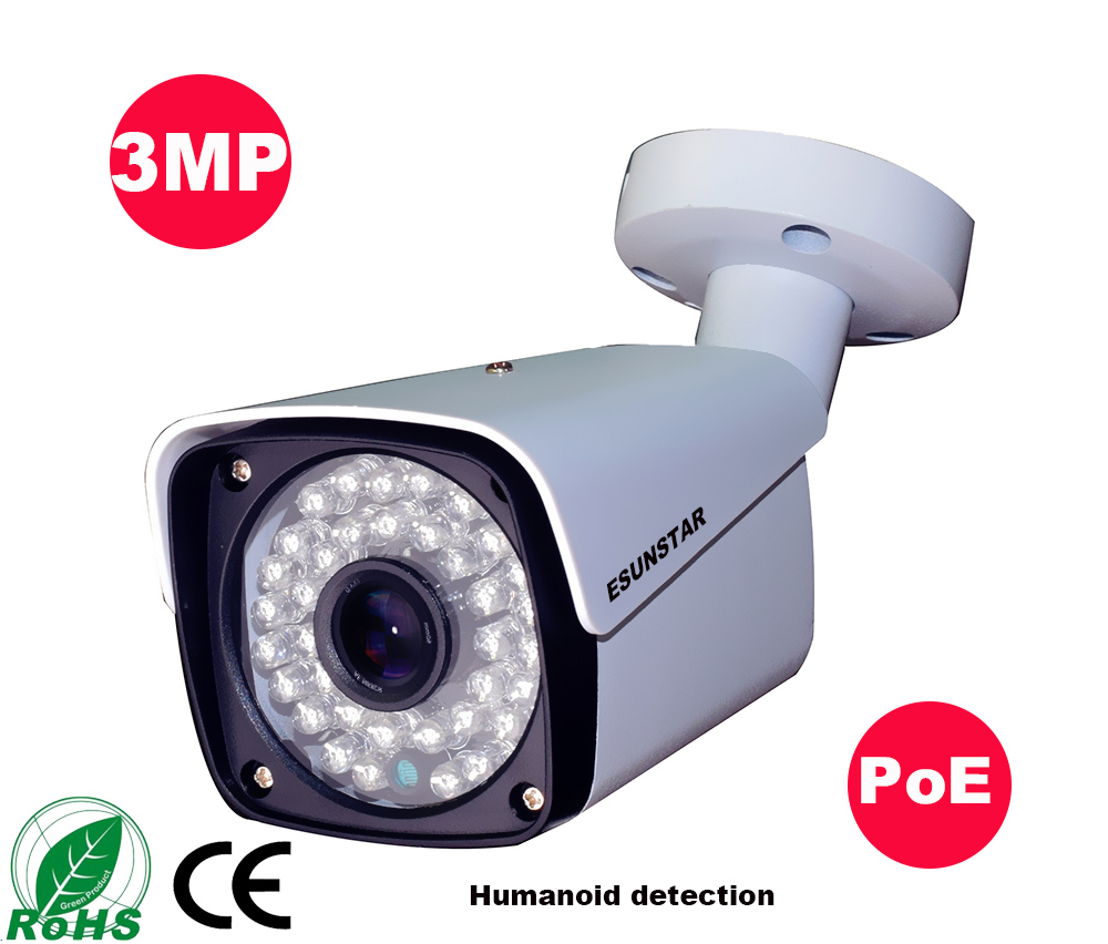 Image 2 - 3MP Security POE IR IP Camera Metal Network Camera Bullet Surveillance Outdoor 2MP 25fps Humanoid recognition-in Surveillance Cameras from Security & Protection