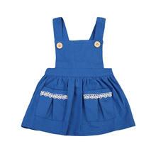 23554b15acb23 Nouveau-né Bébé Filles Denim Sans Manches Kid Partie Pagant Princesse Robes  D été Décontractés Bleu Vêtements 6-36 M