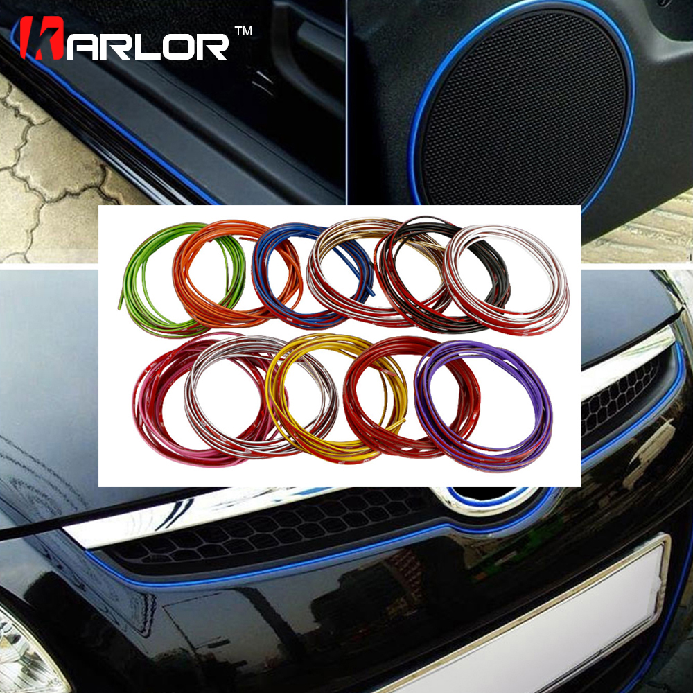 5 Meters 3M Car Auto Decoration Sticker Thread Indoor Pater Car Interior Exterior Body Modify Decal Strip Decal Auto Car-Styling