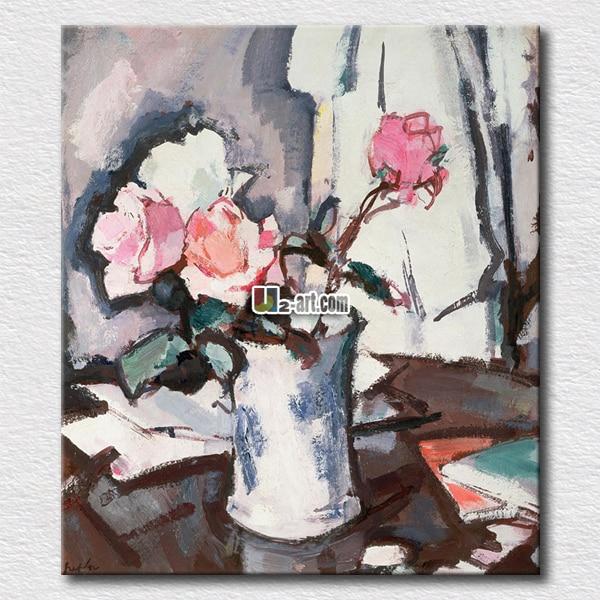 5993f17641f68 معرض الزهور النفط الطلاء طباعة الوردي الزهور على قماش لوحات صورة للمنزل  الجدار الديكور فريد هدية للأصدقاء