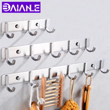 Robe Hooks Stainless Steel Bathroom Hook for Towels Key Bag Hat Clothes Coat Hook Wall Mounted Door Hanger Decorative Hang Rack стоимость